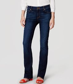 Image of Curvy Boot Cut Jeans in Pure Dark Indigo