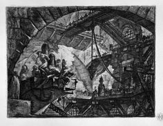 Great art from Art Authority for iPad: Prisoners on a Projecting Platform by Piranesi, Giovanni Battista