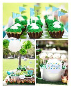 {A Golf Themed Birdee Par-tee via Shop Sweet Lulu - Photos by Lauren Hauser}