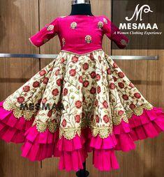 For whatsapp / call - 9884444720 Customised kids lehenga. Kids Dress Wear, Kids Gown, Party Wear Dresses, Frocks For Girls, Little Girl Dresses, Girls Dresses, Baby Frocks Designs, Kids Frocks Design, Kids Ethnic Wear
