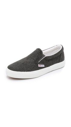 Superga 2311 Wool Slip On Sneakers. Looking at spring shoe options; like these because of their muted tone