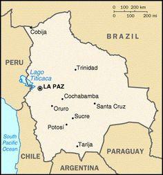 La Paz Bolivia Map Davidterrenoire