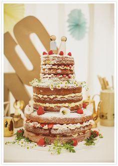 three-tiered, multi-layered powdered wedding cake.  I'll take one of those.