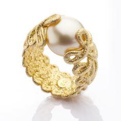 Brigitte Adolph - Gold South Sea Pearl Ring - ORRO Jewellery Glasgow