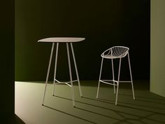 A contemporary and distinct form. Industrial Furniture, Outdoor Tables, Bar Stools, Furniture Design, Contemporary, Melbourne, Interiors, Home Decor, Bar Stool Sports