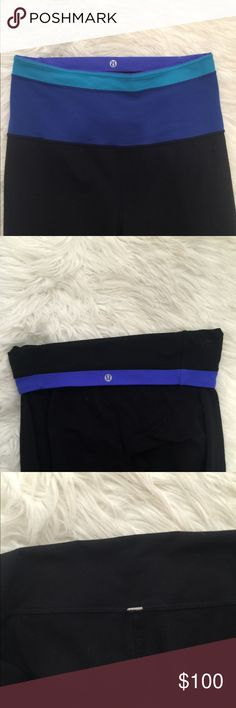 Sale!!! Lululemon full length yoga pants Cute and comfy Fold over lululemon yoga pants   Selling for my mom & we think they're either a 6 or 8. She took the rip tag out for comfort but only wore them a handful of times   No signs of wear   Price negotiable - just ask lululemon athletica Pants Leggings
