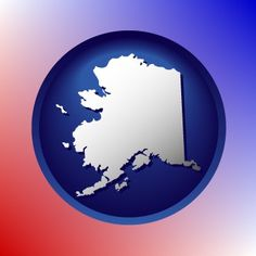 Alaska has an interesting map icon.