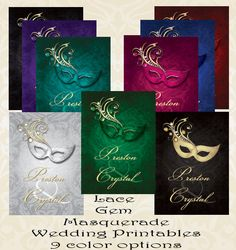 Masked Mystique - 3 for 1 Invitation | Themed weddings ...
