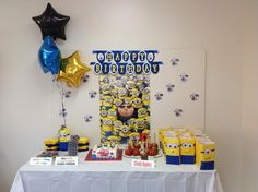 Despicable Me Birthday Cake Table