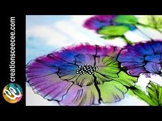 alcohol inks and doodles on yupo - YouTube