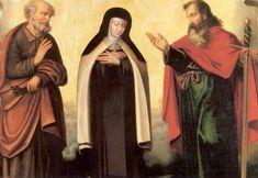 Teresa van Avila. - < 1800. Schilderij België, Brussel, karmelklooster Sint Petrus en Sint Paulus waren mijn eigen beschermers.