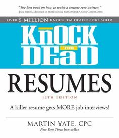 Knock 'em Dead Resumes: A Killer Resume Gets More Job Interviews! This book is still being acquired by libraries in SAILS, but it is listed in the online catalog already. Place your hold now to get your name on the list!