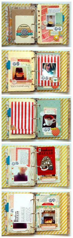 smashbook inspiration- would love to make one for the kids before the summer so they can journal the summer 2014.