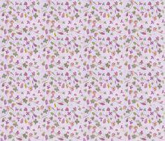 Flower Lavender Meadow fabric by mypetalpress on Spoonflower - custom fabric