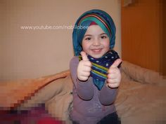 Muslim Girl in Rainbow Hijab