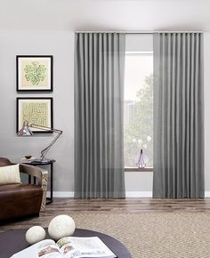 Ripplefold Drapery in Silver Sheer Elegance (over BO roller shades in master)