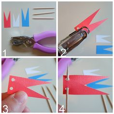 Easy Peasy Toothpick Flag Tutorial    www.the-red-kitchen.com