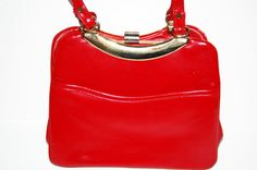 Vintage 1960's Red Purse Faux Leather Red by MidwestAtticTreasure, $25.00