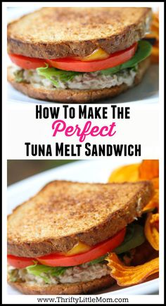 How to Make the perfect Tuna Melt Sandwich. This is a hearty sandwich that with a few simple touches can make an amazing Saturday afternoon lunch with a yummy bowl of soup! Now you can make the perfect tuna melt sandwich recipe for your family. Tuna Recipes, Sandwich Recipes, Dinner Recipes, Cooking Recipes, Healthy Recipes, Healthy Food, Healthy Mummy, Recipies, Tuna Melt Sandwich