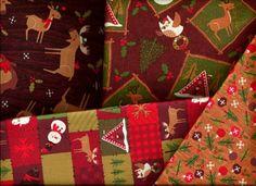 2 Yard Quilt Fabric North Woods Christmas Medley Moose Bear Deer   auntiechrisquiltfabric - Craft Supplies on ArtFire