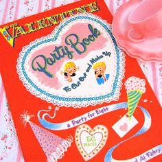 Book of vintage valentines