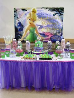 Little Dance Invitations {Party Submission} Magical Tinkerbell Party http://www.littledanceinvitations.com.au/Blog/June-2013/Magical-Tinkerbell-Birthday-Party Tinkerbell-Dessert-Table-2.jpg