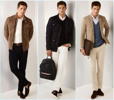 Ollie Edwards models standout looks from Pedro del Hierro for spring 2017.