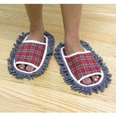 Dust mop slippers...  brilliant.