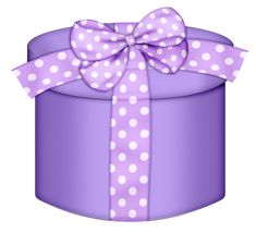 Purple Round Gift Box PNG Clipart