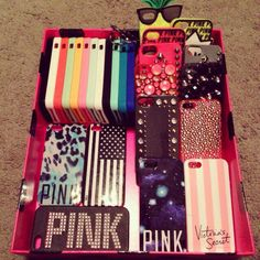 Pink phone cases, love these! ♡Follow @ Hadlee Hoffman for more!