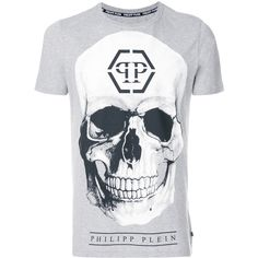 Philipp Plein Connell Hotfix T-shirt (1.280 BRL) ❤ liked on Polyvore featuring men's fashion, men's clothing, men's shirts, men's t-shirts, grey, mens cotton shirts, mens rock and roll shirts, philipp plein men's t shirt, mens grey t shirt and mens short sleeve t shirts