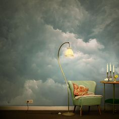 Cloud wallpaper in the salon. The most beautiful cloud photos as wallpaper. Cloud wallpaper in the salon. … … The most beautiful cloud photos as wallpaper. Wallpaper Wall, Salon Wallpaper, Photo Wallpaper, Forest Mural, Wall Murals, Wall Art, Cloud Photos, Wall Treatments, My New Room
