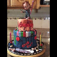 Strange 7 Best Chucky Cake Images Chucky Halloween Cakes Horror Cake Funny Birthday Cards Online Sheoxdamsfinfo