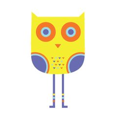 Illustration | Yellow owl with athletic socks, A Hoot A Day, Jen Peters #owl