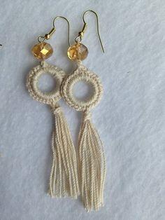 Best 12 ONE Crochet Earrings Pattern, PDF File teardrop-shaped earrings, elegant model – PDF, pattern f Crochet Jewelry Patterns, Crochet Earrings Pattern, Crochet Accessories, Crochet Jewellery, Cotton Crochet, Thread Crochet, Tatting Jewelry, Beaded Jewelry, Fine Jewelry