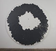 "Amy Feldman Target 2011  84"" diameter  acrylic on canvas"
