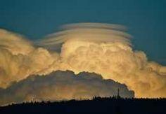 Lenticular clouds over the Okanagan Valley