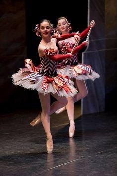 Eloise Fryer and Imogen Chapman as Mirlitons from the Australian Ballet's The Nutcracker. Photography: Lynette Wills