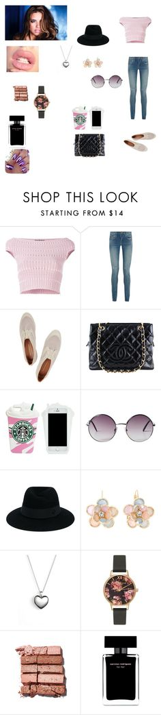 """""""Laura's Outfit for day in Bogota, Colombia"""" by onedirectionforever1297 on Polyvore featuring Alexander McQueen, Yves Saint Laurent, Rebecca Minkoff, Chanel, Monki, Maison Michel, Mixit, Pandora, Olivia Burton and Bobbi Brown Cosmetics"""