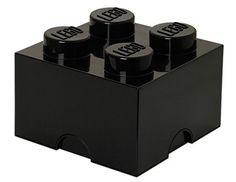 LEGO Lizenzkollektion 40031733 - Stapelbare Aufbewahrungsbox 4 Noppen, schwarz