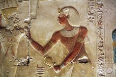 Templo de Sethi I en Abidos. Abydos , Seti I , Capilla de Amon . Amon's chapel. Chapelle de Amon.   por Soloegipto