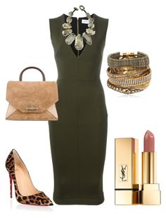 """Statement Necklace Contest - 2"" by arta13 on Polyvore featuring Christian Louboutin, Hipanema, Yves Saint Laurent, Victoria Beckham, Givenchy and Viktoria Hayman"
