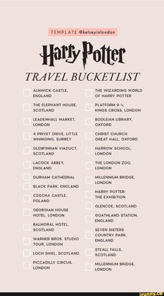 Harry Potter Story Templates by Harry Potter quizzes. Harry Potter Images, Harry Potter Jokes, Harry Potter World, Harry Potter Spells List, Harry Potter Netflix, Travel Checklist, Travel List, Travel Goals, Travel Europe