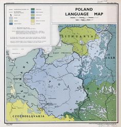 Poland Language Map from 1919 (published × : Map_Porn Poland Language, Poland Map, City Layout, Geography Map, National History, Fantasy Map, Alternate History, Old Maps, City Maps