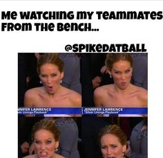 lol, we have a pic of our bench during a game that pretty much has each of these expressions