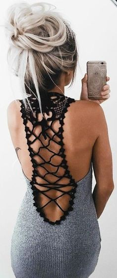 #summer #girly #outfits |  Back Detail Dress