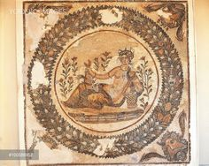 Mosaic work depicting the Summer Goddess (or Ceres, the Goddess of growing plants)  3rd Century A.D., Tunisia, Carthage, Musee National De Carthage (Archaeological Museum), Roman art
