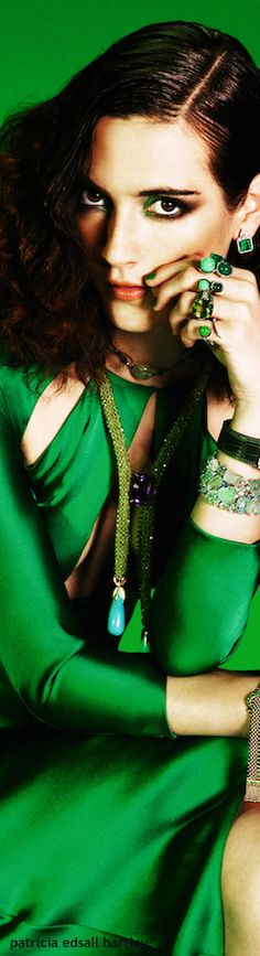 The Enchanted Forest / Karen Cox / Modern Fairytale in Green. Mean Green, Go Green, Green Colors, Glamour, Green Silk, Emerald Green, Emerald City, Green Fashion, Kelly Green