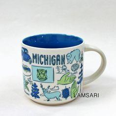 Mackinac Bridge, Starbucks Mugs, Data Sheets, Great Lakes, Lake Michigan, New Product, Ceramics, Tableware, Ceramica