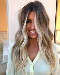 Are you going to balayage hair for the first time and know nothing about this technique? We've gathered everything you need to know about balayage, check! Ombre Hair Color, Hair Color Balayage, Hair Highlights, Ash Ombre, Beige Blonde Balayage, Front Highlights, Partial Blonde Highlights, Haircolor, Beach Hair Color